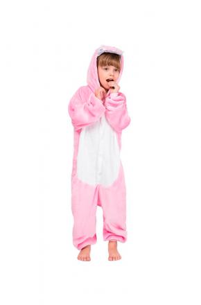 Кигуруми детский Динозаврик розовый