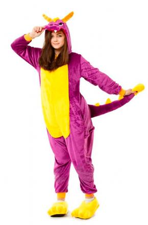 Кигуруми Дракон фиолетовый