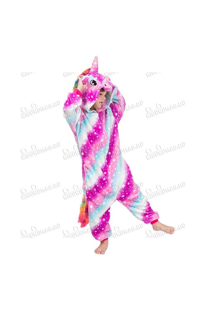Кигуруми детский Единорог Радужный - 2