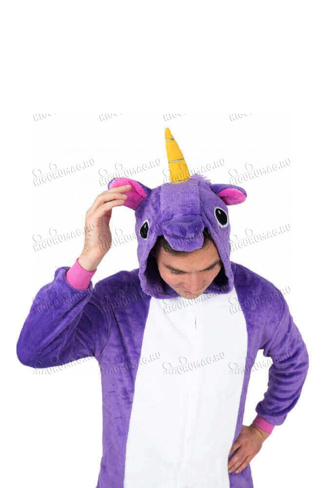 Кигуруми Единорог Фиолетовый - 13