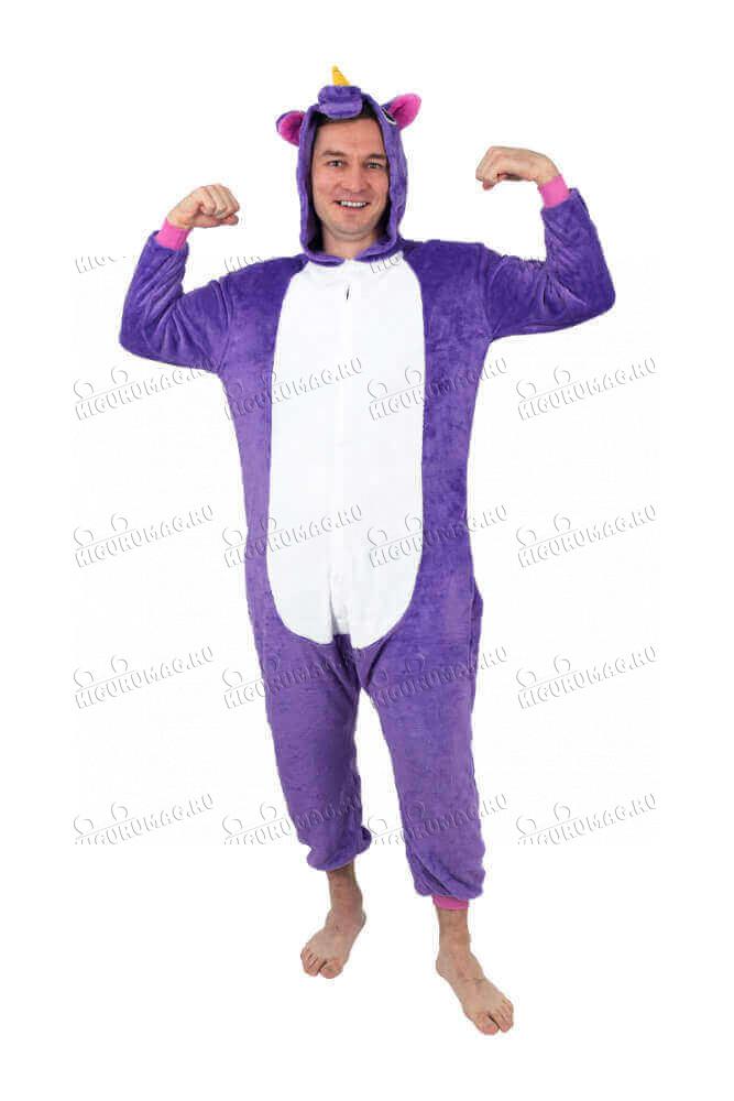 Кигуруми Единорог Фиолетовый - 8