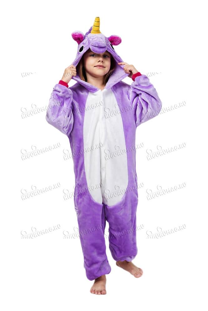 Кигуруми детский Единорог Фиолетовый - 3