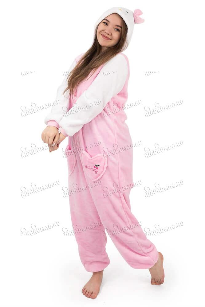 Кигуруми детский Hello Kitty розовый