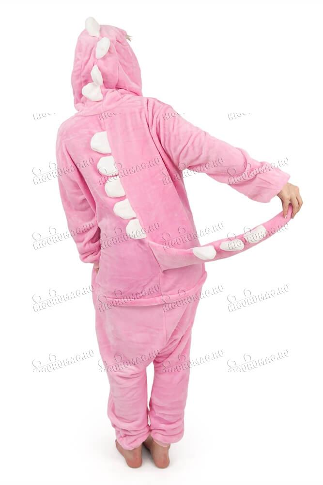 Кигуруми Динозаврик розовый - 5