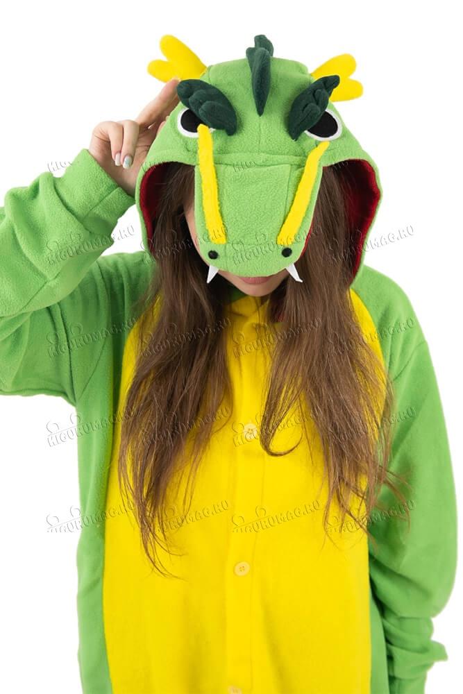 Кигуруми Дракон зеленый - 7