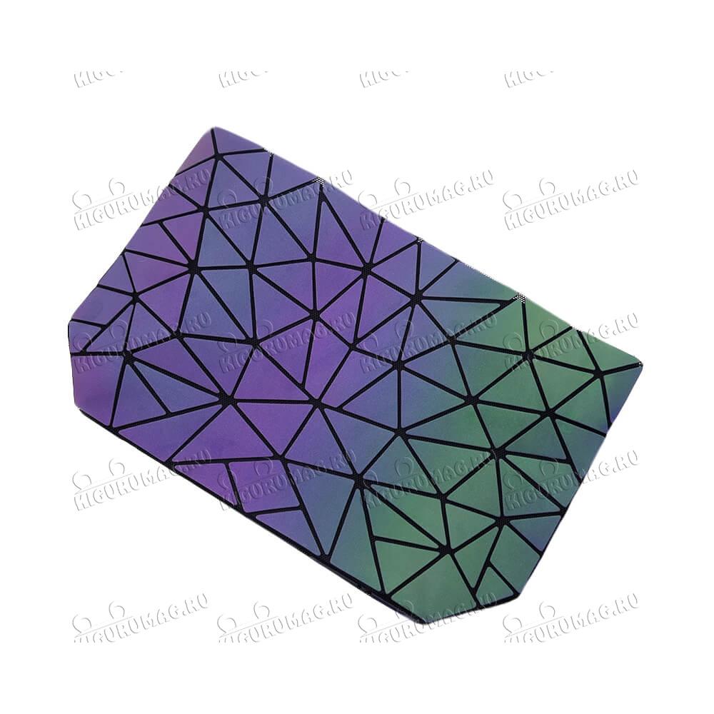 Сумка женская Хамелеон, узор шестиугольный - 7